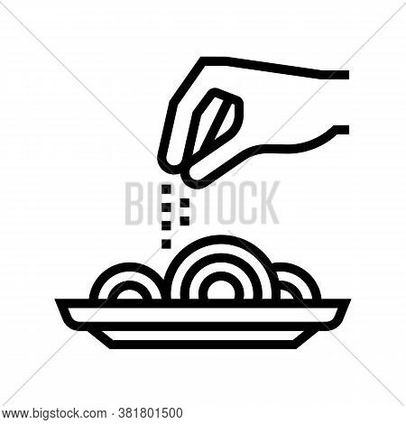 Flavoring Dish Line Icon Vector. Flavoring Dish Sign. Isolated Contour Symbol Black Illustration