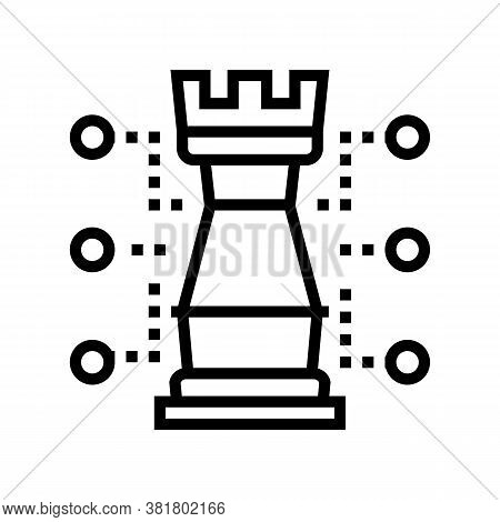 Chess Tour Characteristic Line Icon Vector. Chess Tour Characteristic Sign. Isolated Contour Symbol