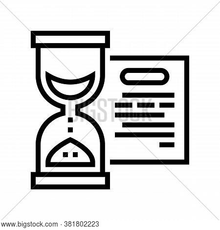 Performing Tasks Time Line Icon Vector. Performing Tasks Time Sign. Isolated Contour Symbol Black Il