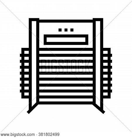 Veneer Dryer Machine Line Icon Vector. Veneer Dryer Machine Sign. Isolated Contour Symbol Black Illu