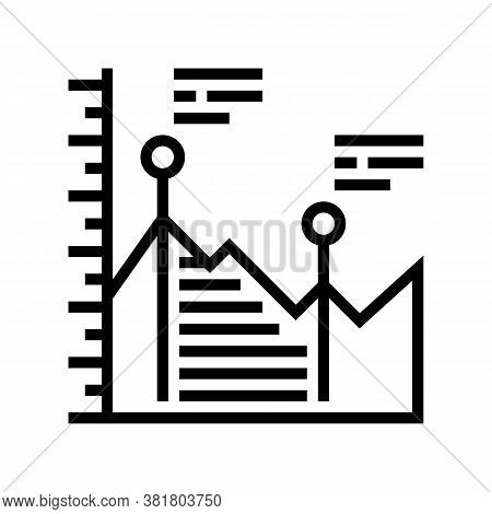 Analyzing Infographic Line Icon Vector. Analyzing Infographic Sign. Isolated Contour Symbol Black Il