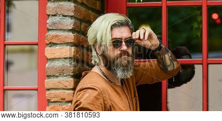 Fashionable Mature Man With Cigarette. Cool Guy Relaxing. Went On Smoke Break. Hipster Smoking Irish