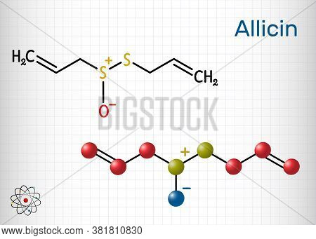 Allicin, Sulfoxide Molecule. This Compound Exhibits Antibacterial And Anti-fungal Properties. Struct