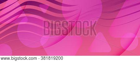 Color Flow Wave. Pink Dynamic Movement. Abstract Fluid Shape. Business Banner.  Color Flow Wave. Viv