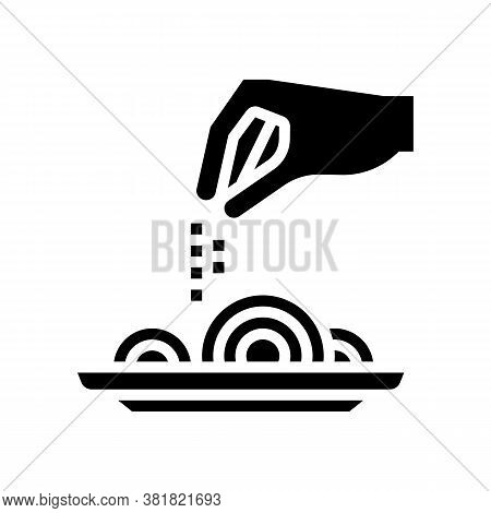 Flavoring Dish Glyph Icon Vector. Flavoring Dish Sign. Isolated Contour Symbol Black Illustration