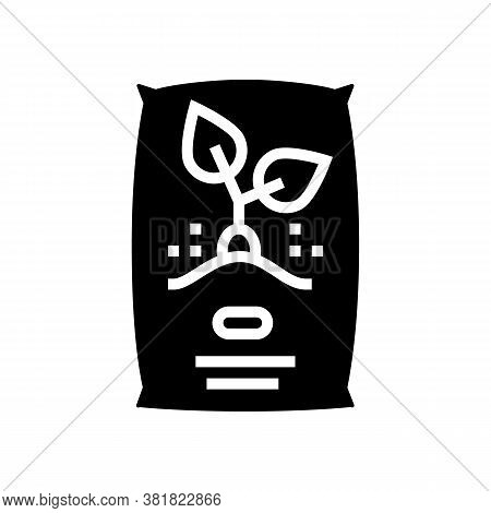 Seeds Bag Glyph Icon Vector. Seeds Bag Sign. Isolated Contour Symbol Black Illustration