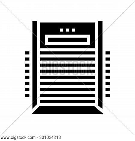 Veneer Dryer Machine Glyph Icon Vector. Veneer Dryer Machine Sign. Isolated Contour Symbol Black Ill