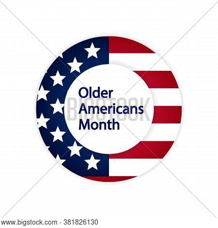 Older Americans Month Icon, Vector Art Illustration.