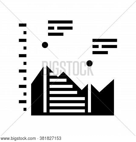 Analyzing Infographic Glyph Icon Vector. Analyzing Infographic Sign. Isolated Contour Symbol Black I