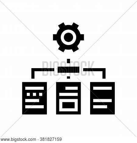 Analyzing Documents Glyph Icon Vector. Analyzing Documents Sign. Isolated Contour Symbol Black Illus