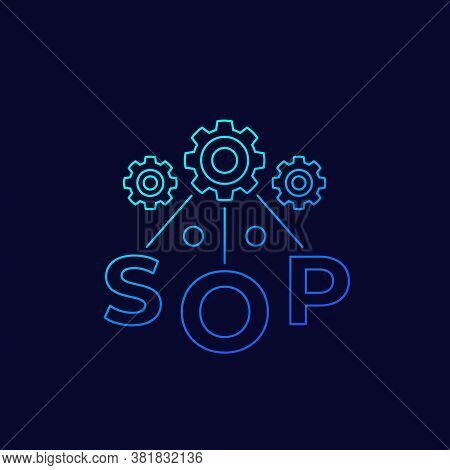 Sop, Standard Operating Procedure, Linear Icon, Eps 10 File, Easy To Edit