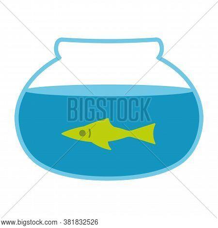 Fishbowl School Science Supplies Biology Icon- Vector