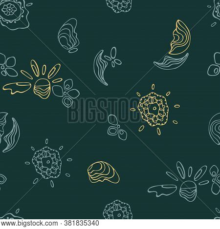 Pattern With Abstract Symbols Of Summer And Warmth