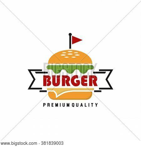 Burger Logo, Fast Food ,illustration, Emblem, Label, Burger Vintage Design - Business Burger Logo De