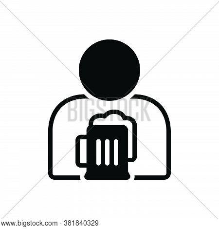 Black Solid Icon For Habit Knack Custom Manner Obsession Addiction Mug Win Desire Relish