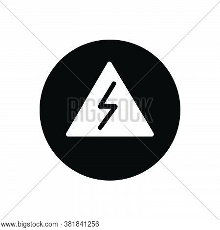 Black Solid Icon For Danger Peril Hazard Risk Jeopardy Insecurity Menace Pitfall Crisis Alert Sign