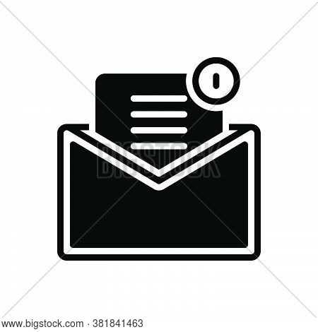 Black Solid Icon For Mail Email Tidings Communication Newsletter Message Inbox Envelope Notification