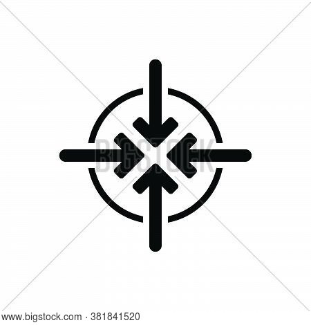 Black Solid Icon For Narrow Parochial Highway Merge Space Tight Contracted Limited