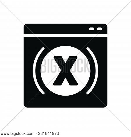 Black Solid Icon For Variable Changeable Varying Irregular Delete Mutable Close Website