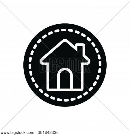 Black Solid Icon For Main House Home Premises Dwelling Residence Habitation