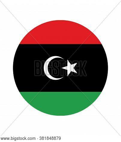 National Libya Flag, Official Colors And Proportion Correctly. National Libya  Flag.