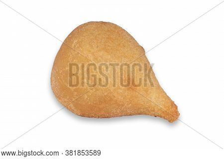 Coxinha. Traditional Brazilian Cuisine Snacks Stuffed With Chicken. Isolated On White Background. Co