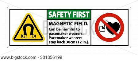 Safety First Magnetic Field Can Be Harmful To Pacemaker Wearers.pacemaker Wearers.stay Back 30cm