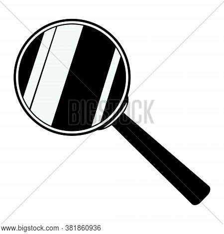 Magnifying Glass Icon Isolated On White Background. Vector Illustration Of Loupe. Tool For Enlarging