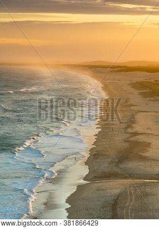 Sunset At Redhead Beach - Newcastle Australia - Red Head Beach Stretches South Towards Swansea And I