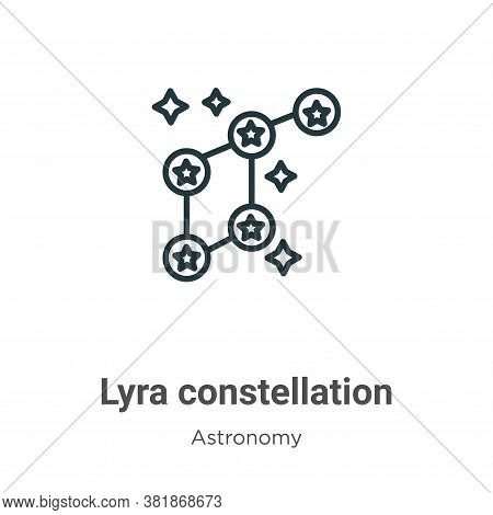 Lyra constellation icon isolated on white background from astronomy collection. Lyra constellation i