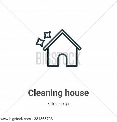 Cleaning house icon isolated on white background from cleaning collection. Cleaning house icon trend