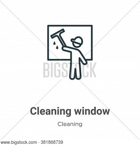 Cleaning window icon isolated on white background from cleaning collection. Cleaning window icon tre