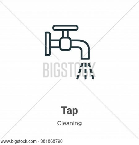 Tap icon isolated on white background from cleaning collection. Tap icon trendy and modern Tap symbo
