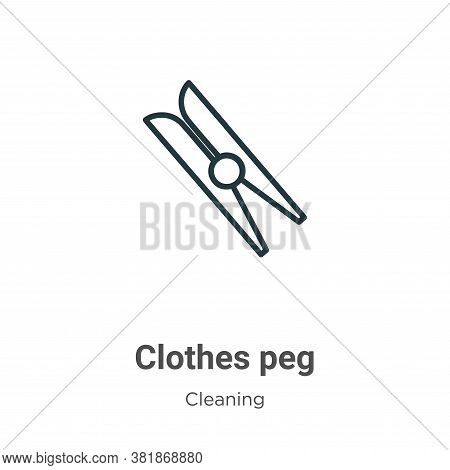 Clothes peg icon isolated on white background from cleaning collection. Clothes peg icon trendy and