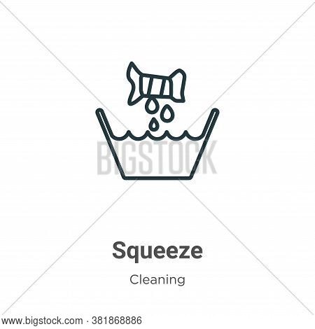 Squeeze icon isolated on white background from cleaning collection. Squeeze icon trendy and modern S
