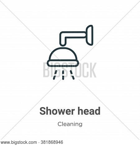 Shower head icon isolated on white background from cleaning collection. Shower head icon trendy and
