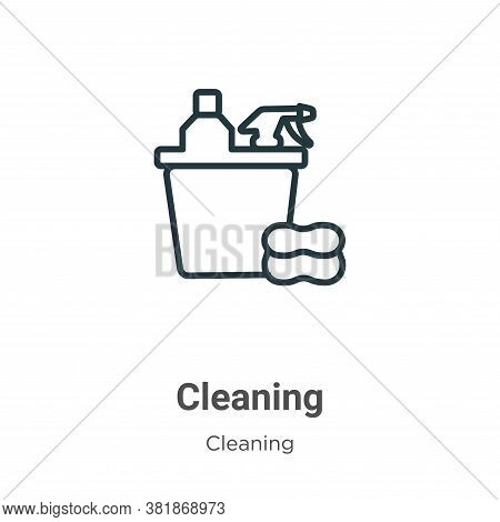 Cleaning icon isolated on white background from cleaning collection. Cleaning icon trendy and modern