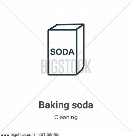 Baking soda icon isolated on white background from cleaning collection. Baking soda icon trendy and
