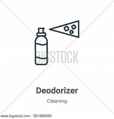 Deodorizer icon isolated on white background from cleaning collection. Deodorizer icon trendy and mo