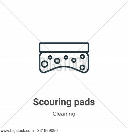Scouring pads icon isolated on white background from cleaning collection. Scouring pads icon trendy