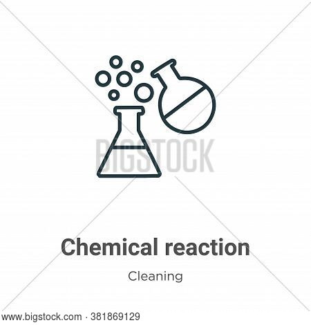 Chemical reaction icon isolated on white background from cleaning collection. Chemical reaction icon