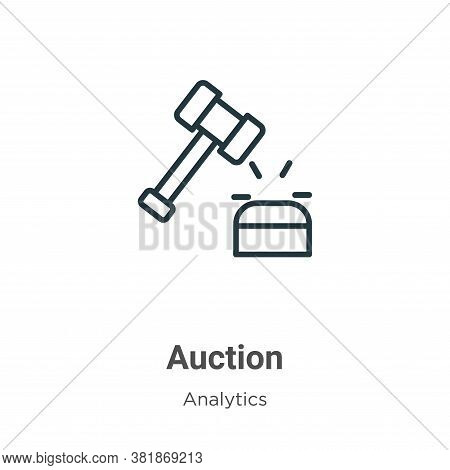 Auction icon isolated on white background from business collection. Auction icon trendy and modern A