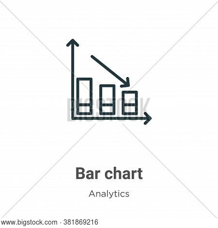 Bar chart icon isolated on white background from analytics collection. Bar chart icon trendy and mod