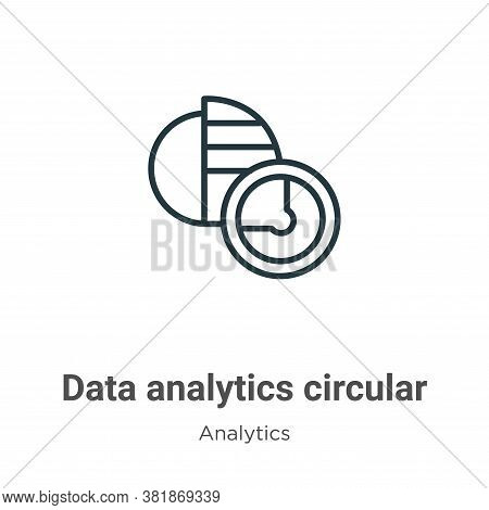 Data analytics circular icon isolated on white background from analytics collection. Data analytics