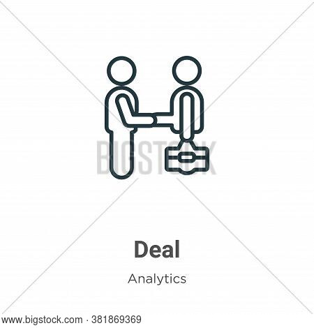 Deal icon isolated on white background from business collection. Deal icon trendy and modern Deal sy