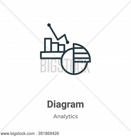 Diagram icon isolated on white background from analytics collection. Diagram icon trendy and modern