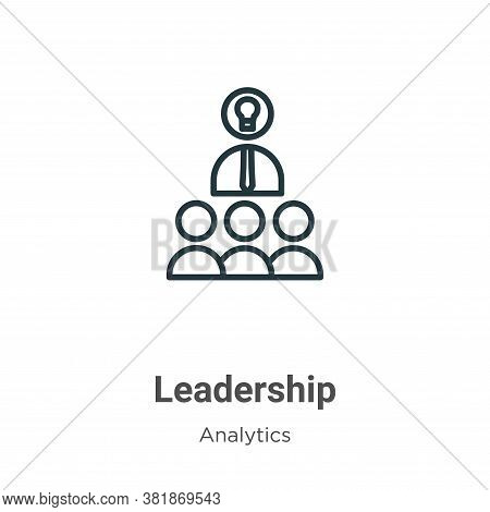 Leadership icon isolated on white background from business collection. Leadership icon trendy and mo