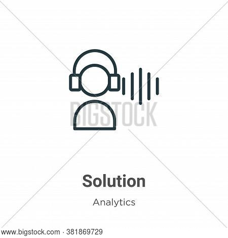 Solution icon isolated on white background from business collection. Solution icon trendy and modern