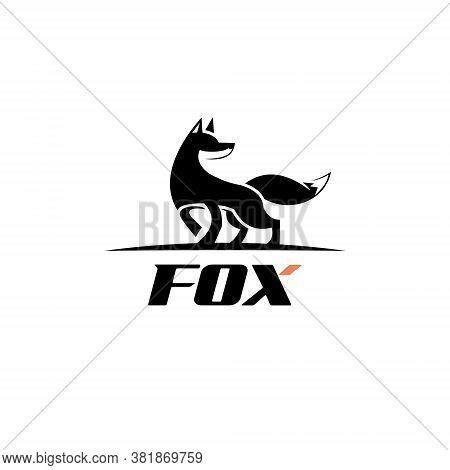 Fox Logo Design Simple And Fun Black Color Animal Template Idea