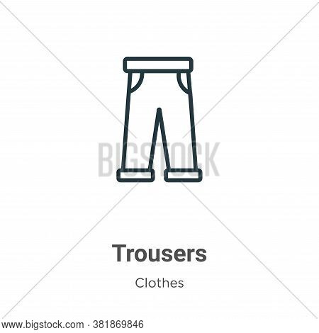 Trousers icon isolated on white background from clothes collection. Trousers icon trendy and modern